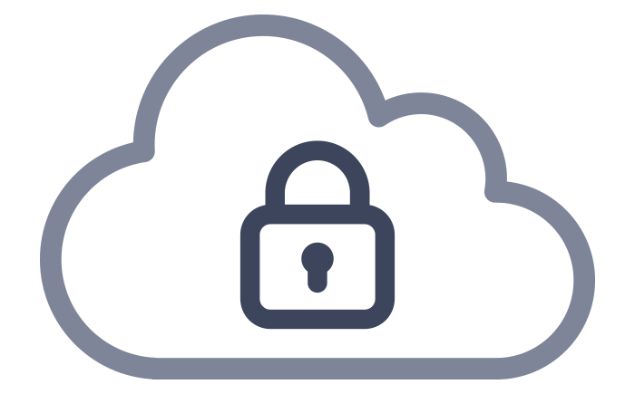 Cloud with padlock