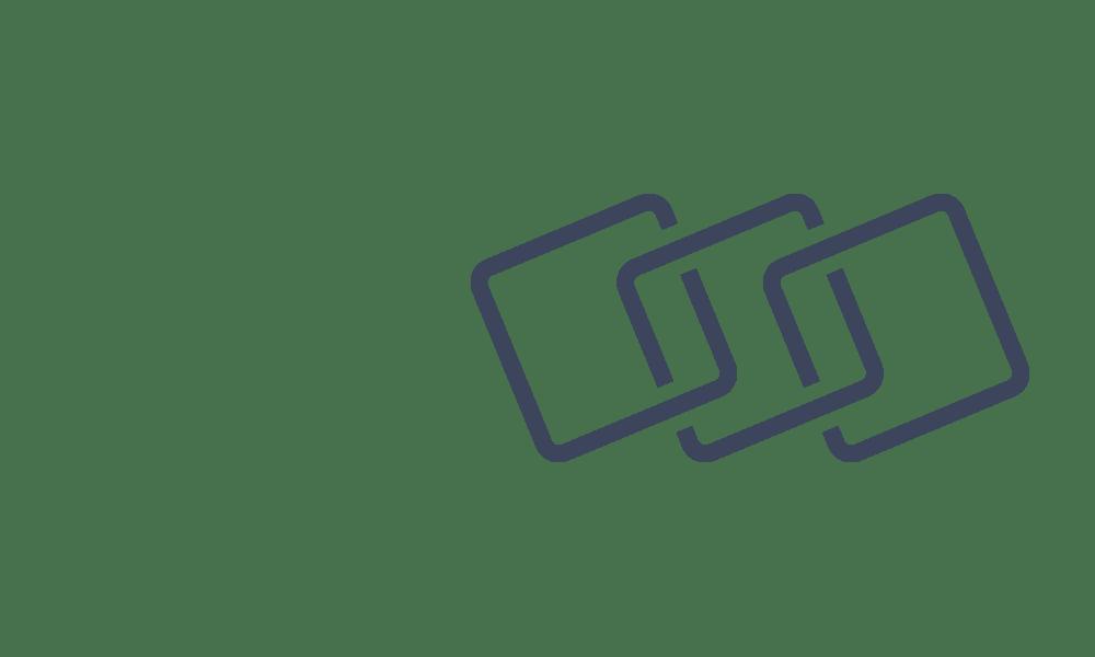 Interlinking squares