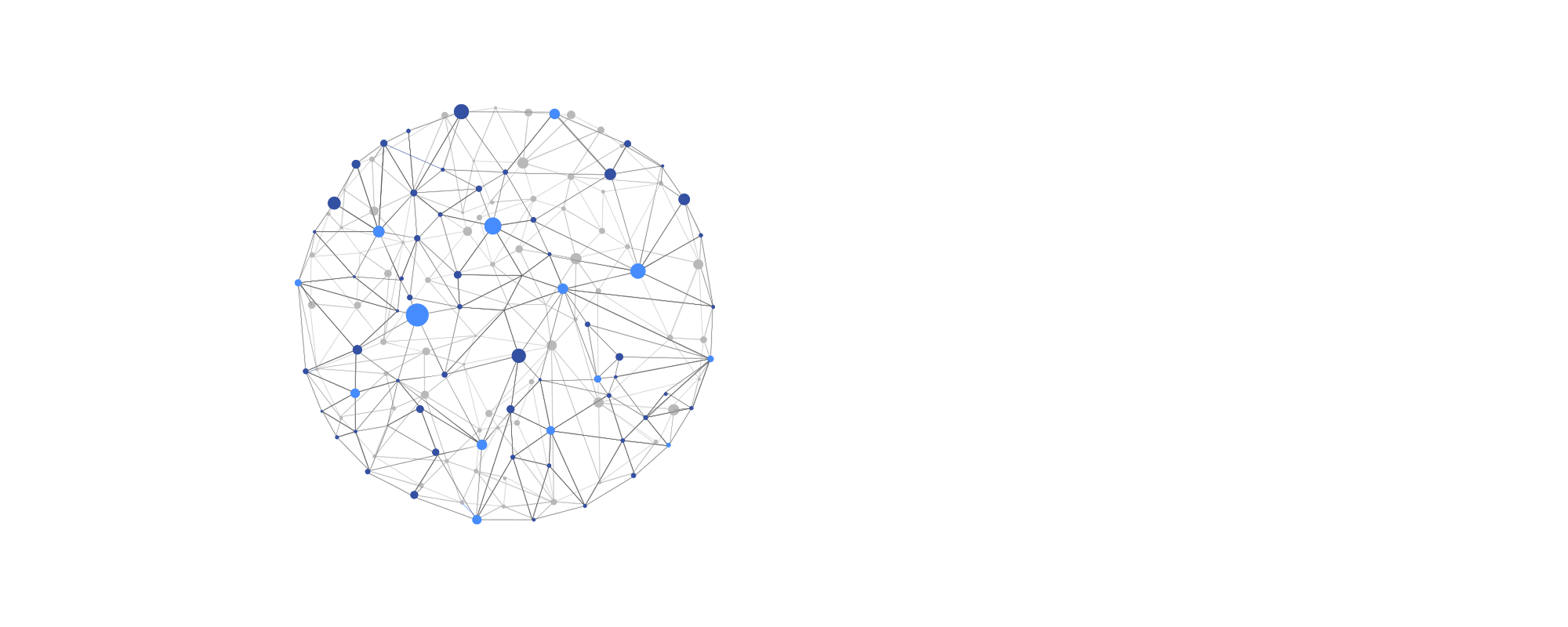 Global network with nodes