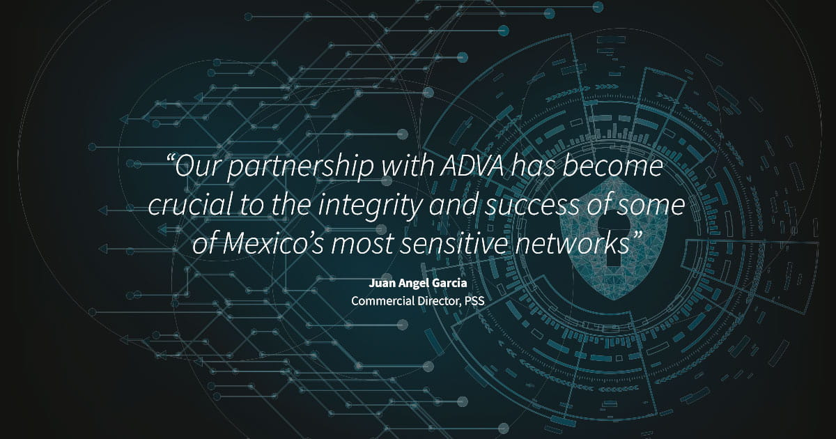 ADVA FSP 150 deployed by major financial trading institution to safeguard data across Mexico