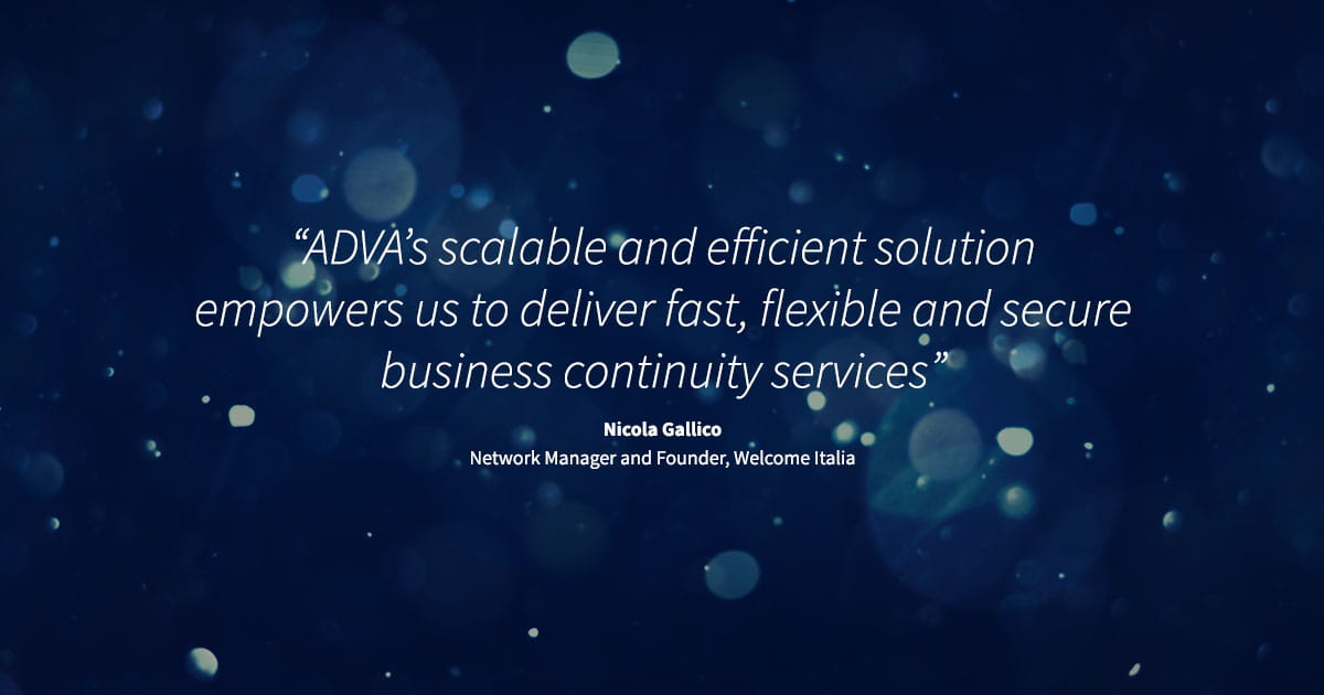 Welcome Italia selects ADVA FSP 3000 for ultra-high-capacity enterprise services