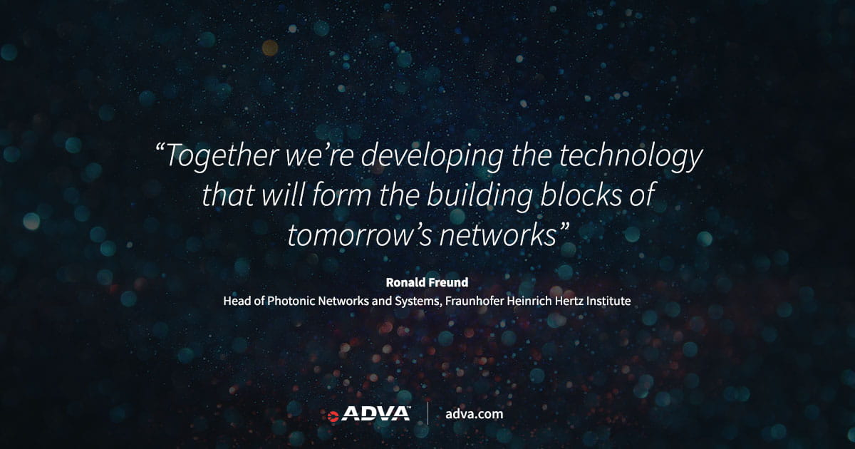 ADVA leads project to boost optical network capacity