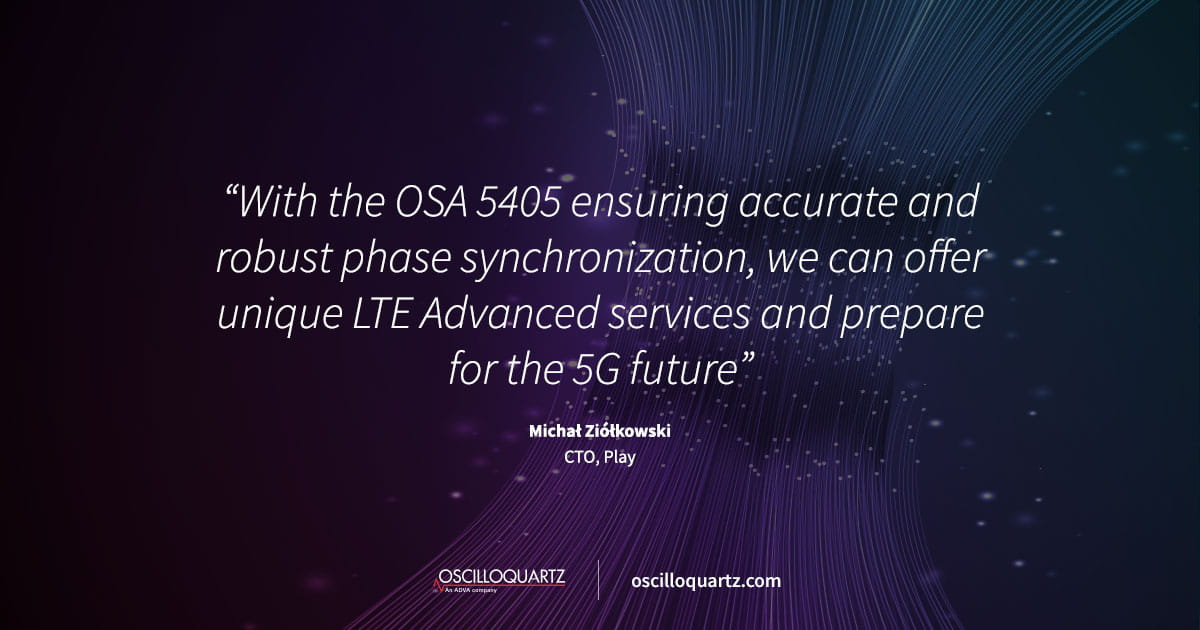 Play harnesses ADVA timing solution for 5G-ready mobile network