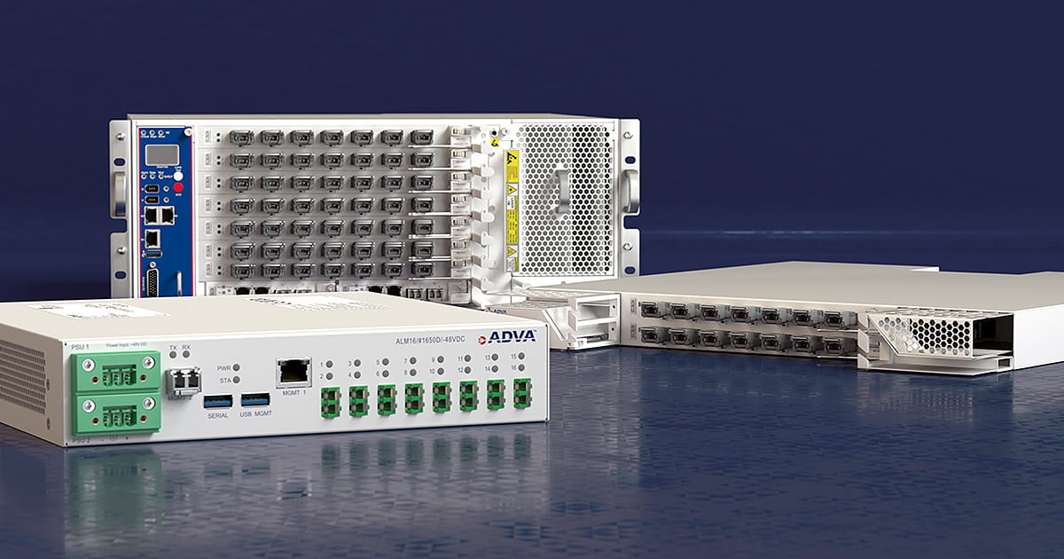 ADVA's OpenFabric™ OTN cross-connect and ALM fiber monitoring technology