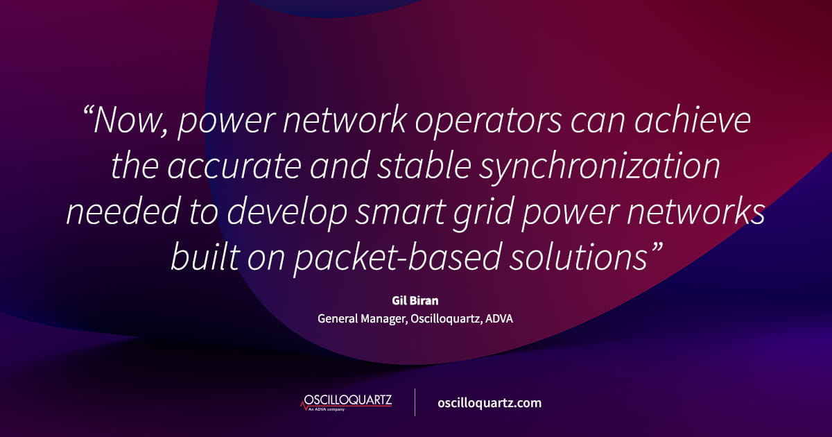 ADVA brings next-gen synchronization to power utility networks