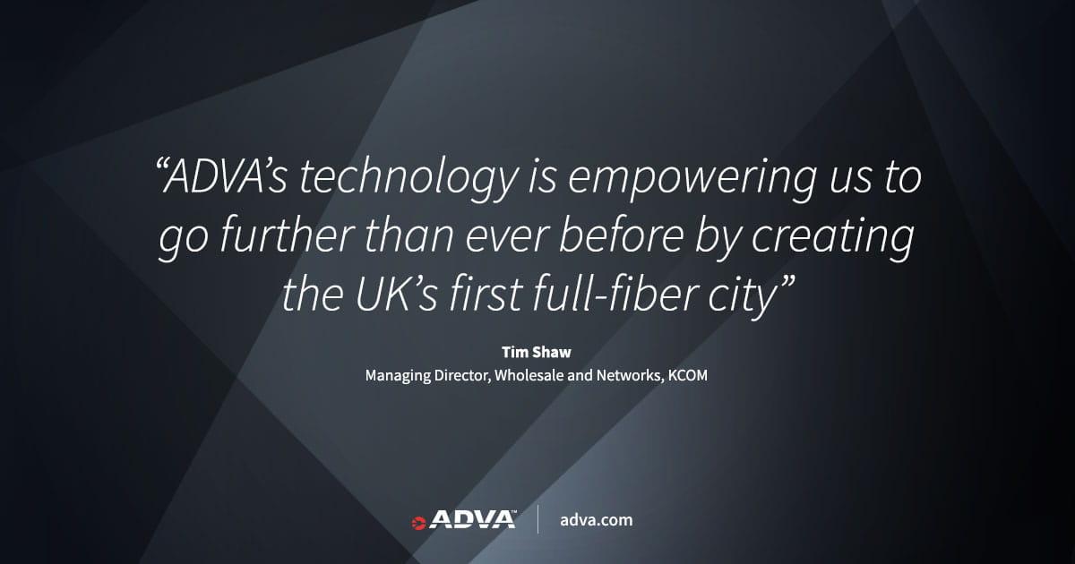 KCOM erweitert Hochgeschwindigkeits-Verbindungen mit Netzabschlusstechnik von ADVA