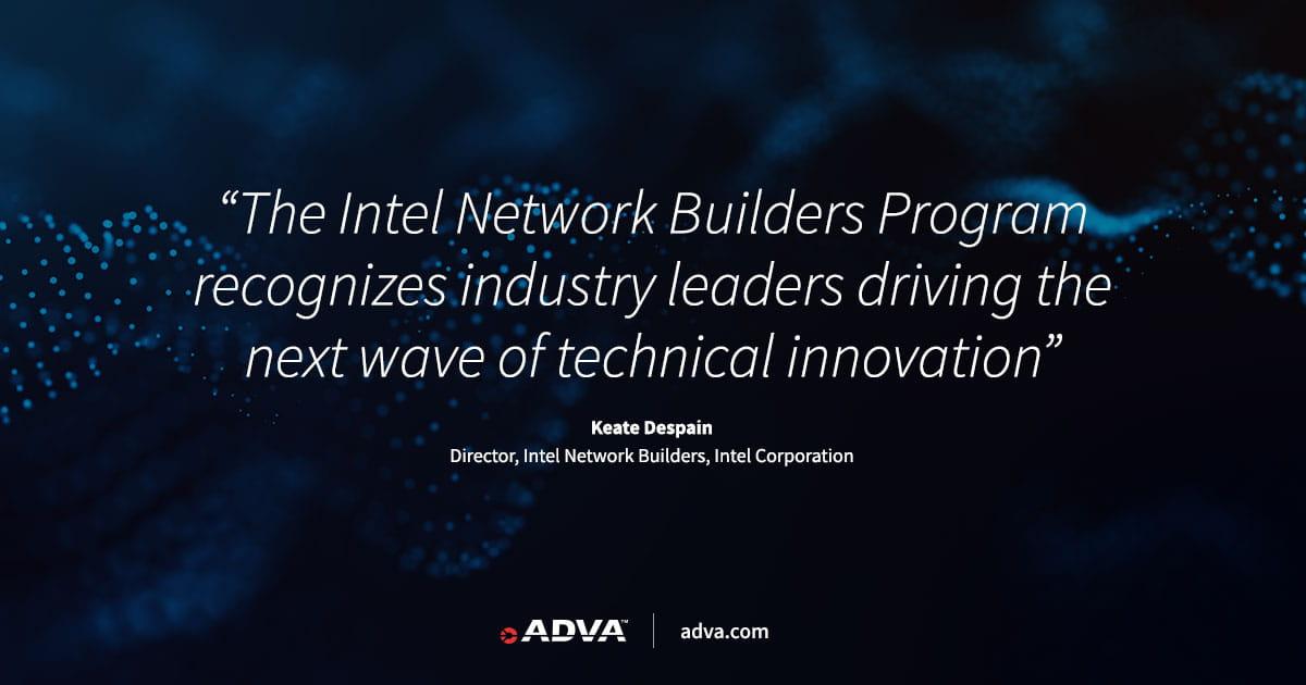 ADVA als Partner des Intel Network Builders Winners' Circle Leaders Board ausgezeichnet