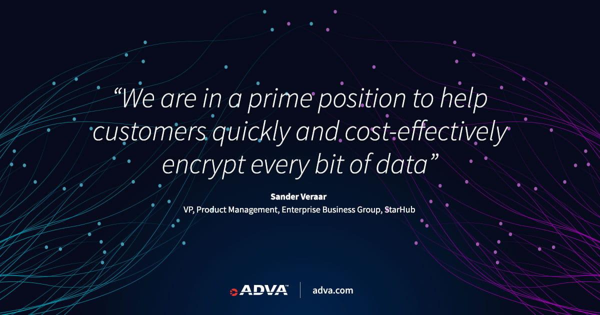 StarHub nutzt die Verschlüsselungslösung von ADVA für sichere und leistungsstarke Telekommunikationsdienste
