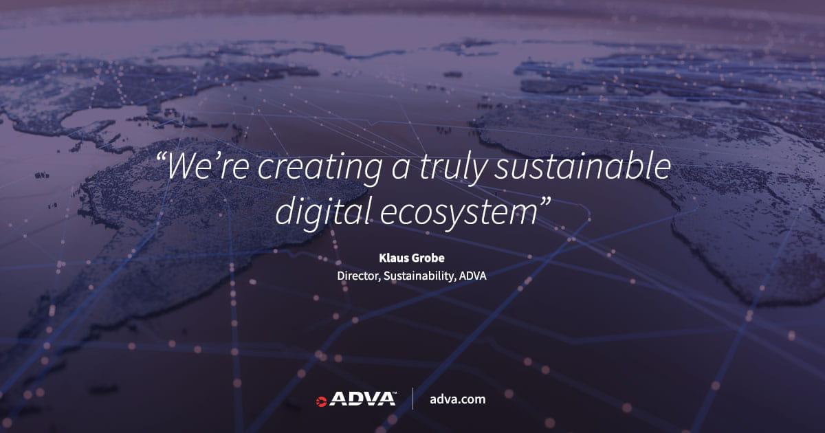 ADVA setzt ehrgeizige neue Ziele zur drastischen Reduzierung der Kohlenstoffemissionen