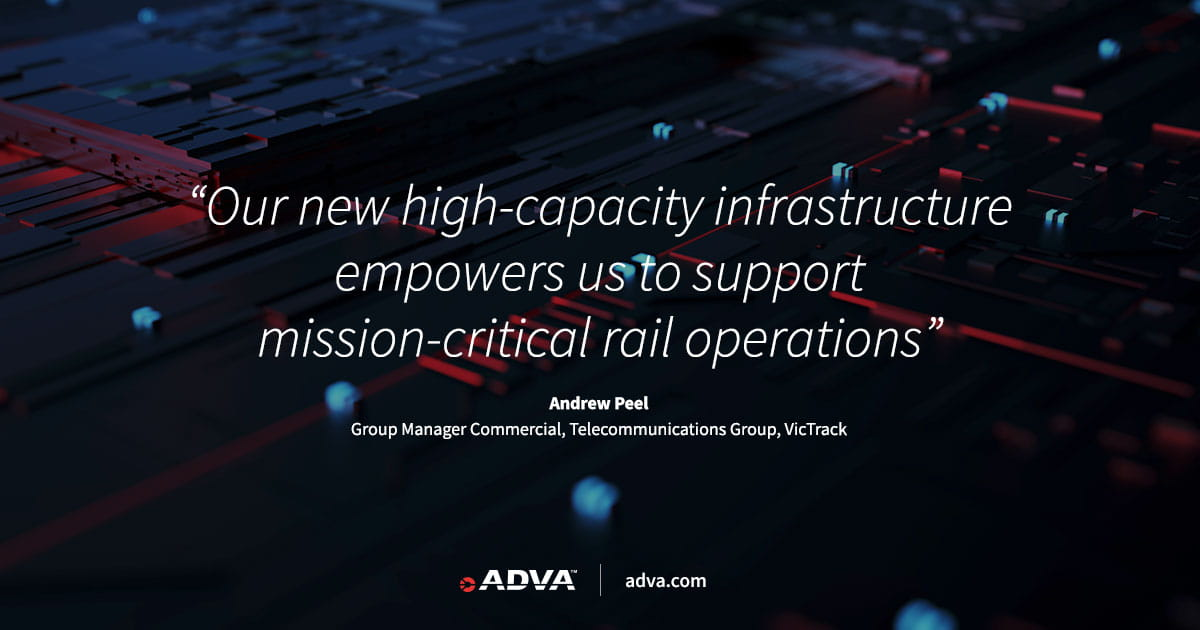 VicTrack transforms rail and government infrastructure with ADVA FSP 3000