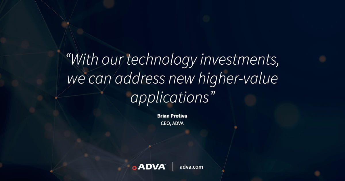 ADVA unveils path to higher profitability at 2021 capital markets day
