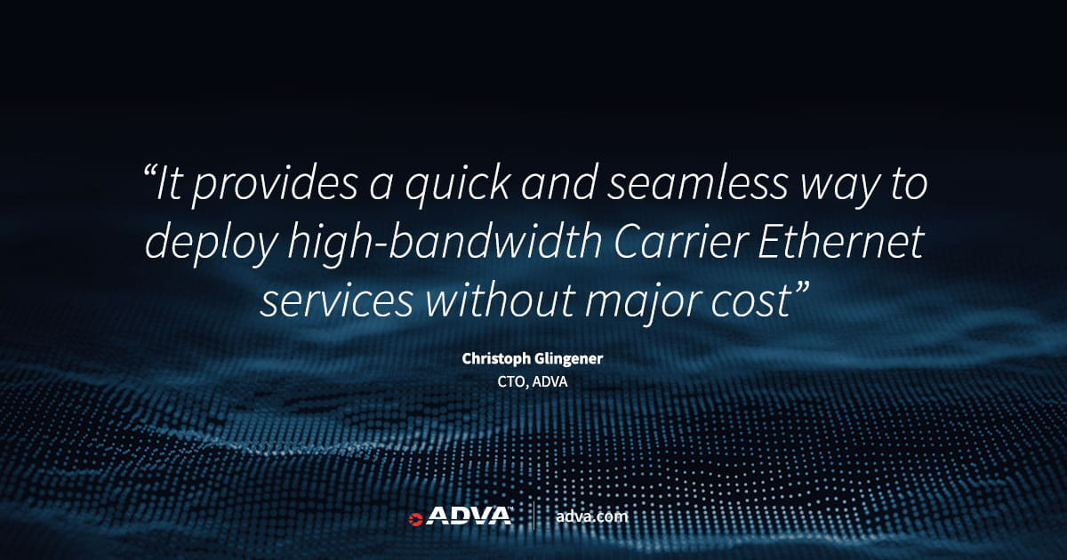 ADVA provides simple, cost-efficient route to 10G services with new edge solution