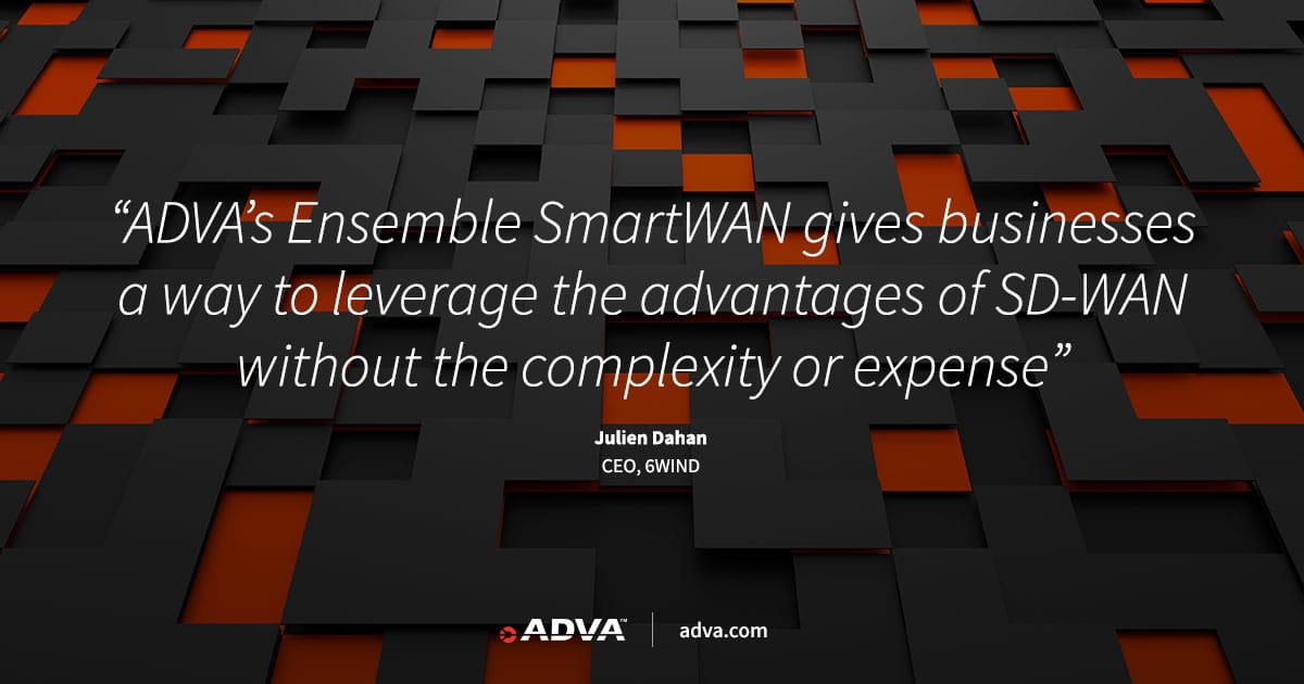 ADVA macht virtuelles Routing mit Ensemble SmartWAN einfach und erschwinglich