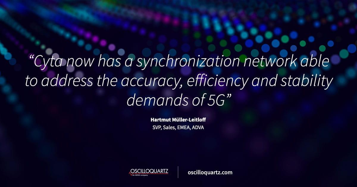Cyta setzt ADVA Oscilloquartz-Lösung für Netzsynchronisation ein