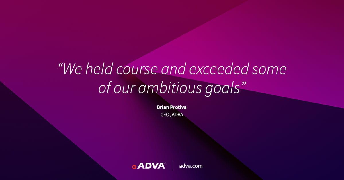 ADVA erzielt in Q4 2020 eines der profitabelsten Quartale der Firmengeschichte