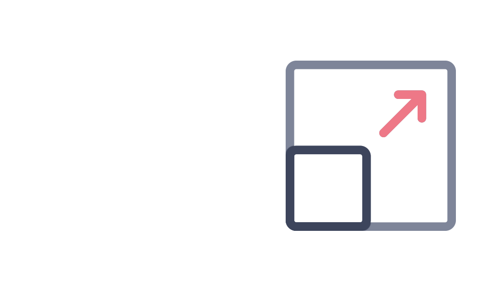 Scalable and cost effective icon