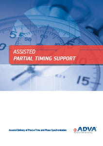 Assisted Partial Timing Support application brochure cover