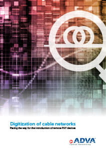 Digitization of cable networks application brochure cover