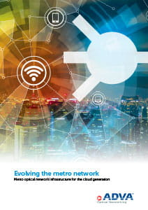 Evolving the metro network application brochure cover