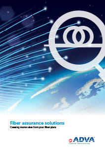 Fiber assurance solutions application brochure cover