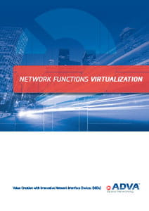 Network Functions Virtualization application brochure cover