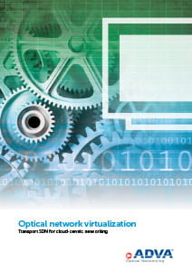 Optical network virtualization application brochure cover