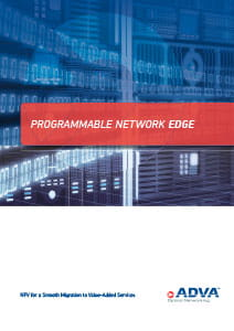 Programmable Network Edge application brochure cover
