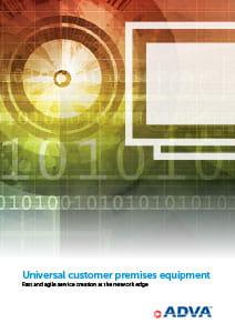 Universal customer premises equipment application brochure cover