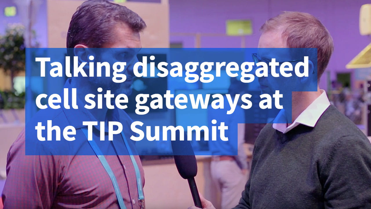 Talking cell site gateway at the TIP summit