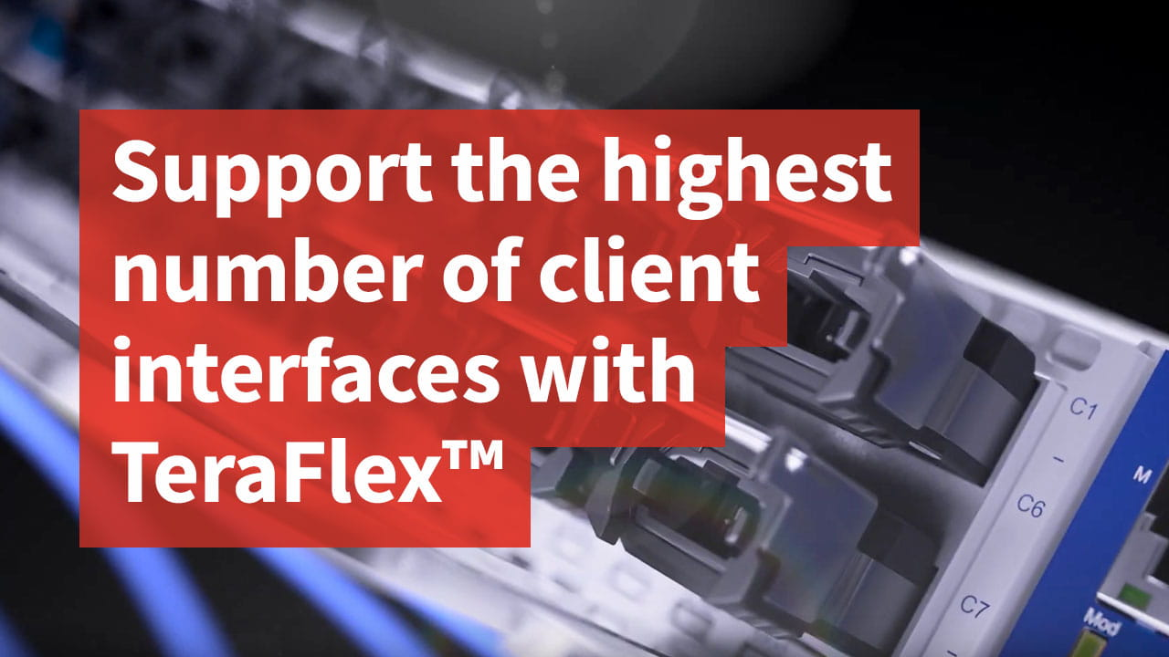 Support the highest number of client interfaces with TeraFlex™